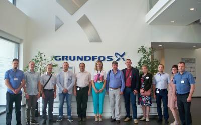 Инженер сервисного центра Grundfos Группы компаний «АСТИВ» Дмитрий Трегубов посетил в составе группы сервисных специалистов завод Грундфос в Сербии