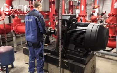 Специалисты сервисного центра Grundfos ГК «АСТиВ» в г. Краснодаре выполнили пусконаладочные работы и центровку пожарных насосов NK на объекте «Леруа Мерлен»