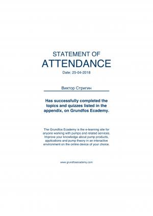 Statement of Attendance – Стригин Виктор