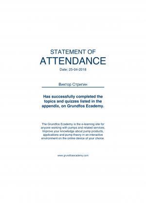 Statement of Attendance – Стригин Виктор